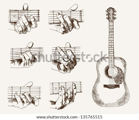 Classical Acoustic Guitar - Download Free Vector Art, Stock Graphics ...