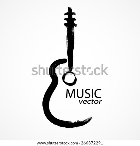 guitar brush shape / music vector