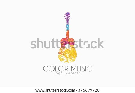 guitar colorful logo rainbow