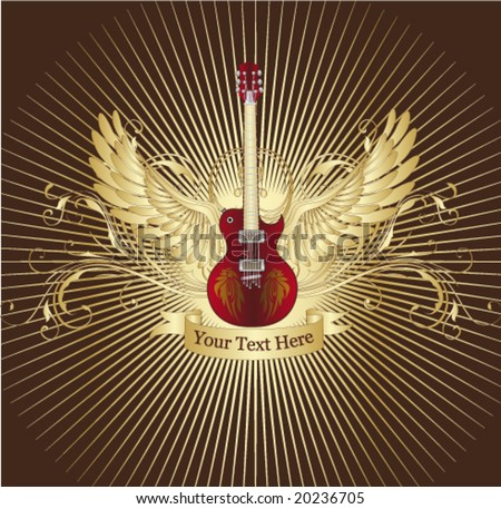 Guitar cover Vector.