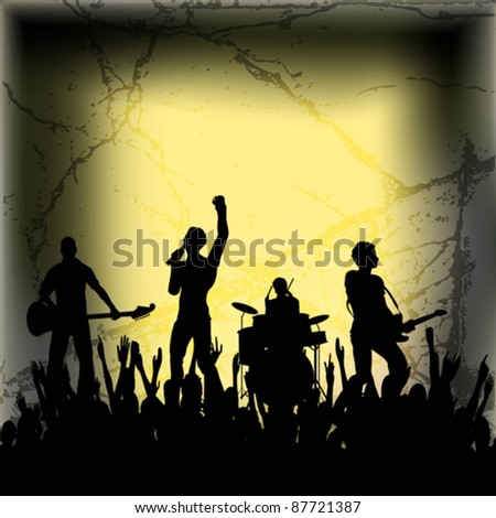 Guitar Group Vector Background
