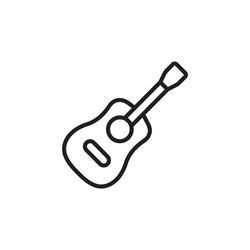 Guitar icon in vector. Logotype