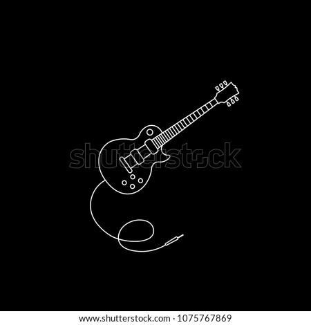guitar icon vector music