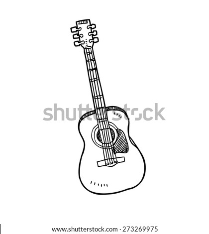 guitar in doodle style
