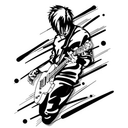 guitar man music graphic object
