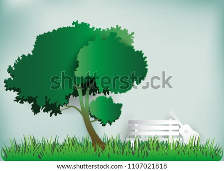 guitar on a grass field in the