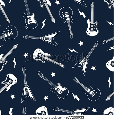 guitar pattern vector.