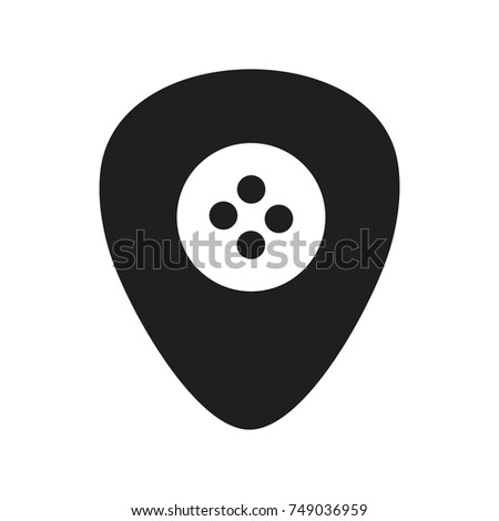 Guitar pick and Needle   icon vector