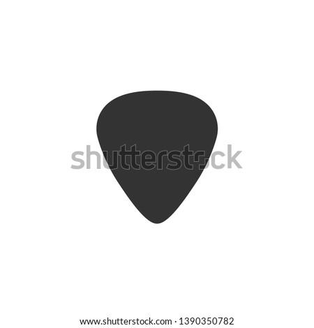 Guitar pick icon in simple design. Vector illustration