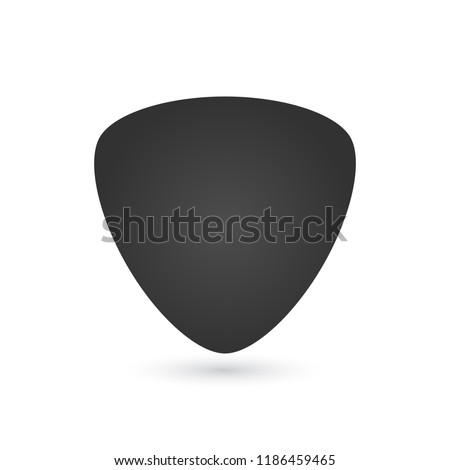 Guitar pick icon, vector illustration isolated on white background.