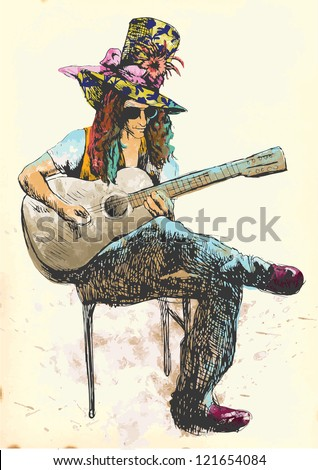 guitar player   eccentric with