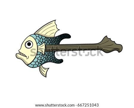 guitar shaped fish