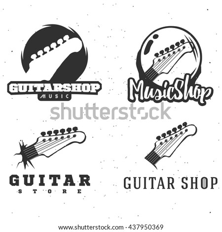 guitar shop logotypes guitar