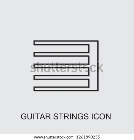 guitar strings icon . Editable line guitar strings icon from music. Trendy guitar strings icon for web and mobile.