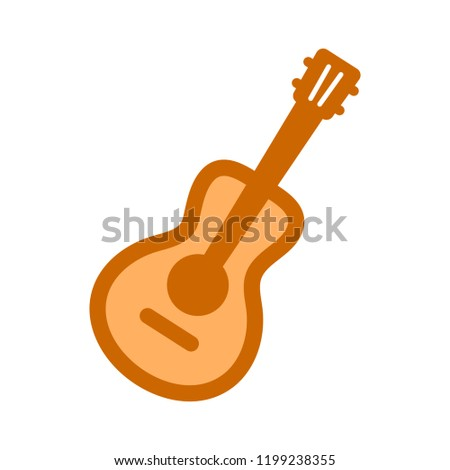 guitar symbol icon. Simple element illustration. guitar concept symbol design. Can be used for web and mobile UI/UX