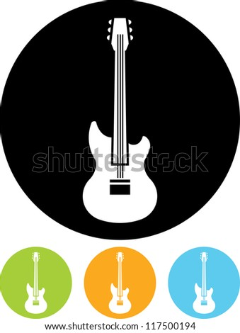 Guitar - Vector icon isolated