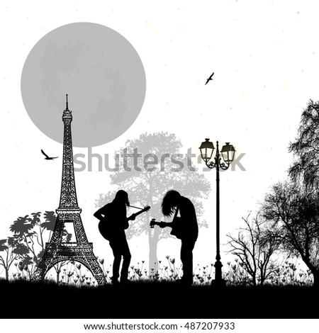 guitarists playing in paris on