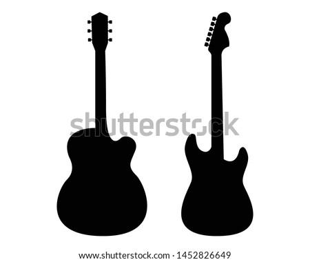 Guitars silhouette - vector pictogram