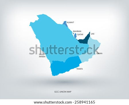 Free middle east vector download free vector art stock graphics gulf countries new map vector gumiabroncs Images