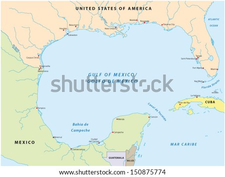 gulf of mexico map