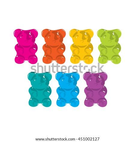 gummy bear seven colors