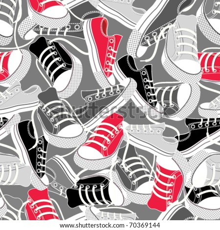 Gumshoes for sport seamless background