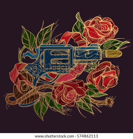gun and rose gold contour