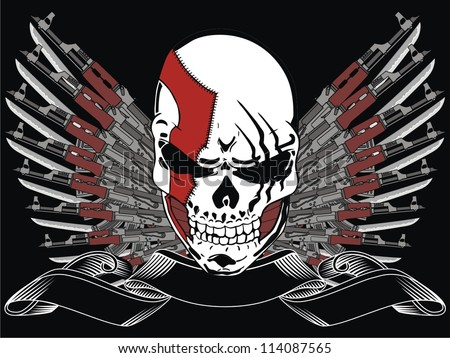 Cool Skull Logos With Guns gun and skull