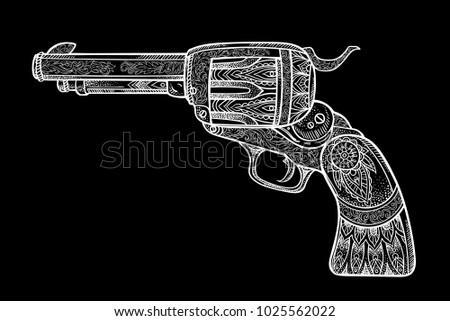 gun as a revolver in the