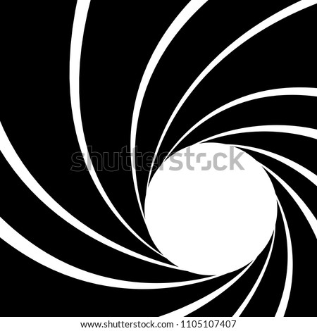 Gun barrel effect a classic theme black and white, Vector illustrator
