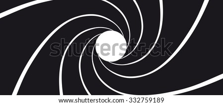 gun barrel   illustration black