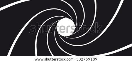 Gun Barrel - Illustration Black and White