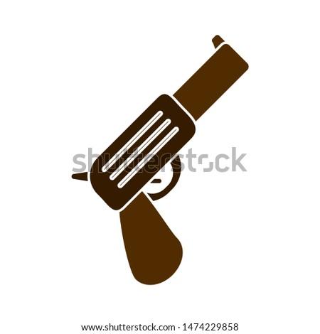 gun icon. flat illustration of gun vector icon. gun sign symbol