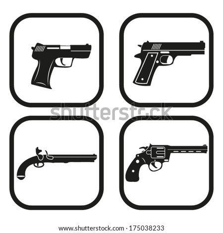 gun icon   four variations