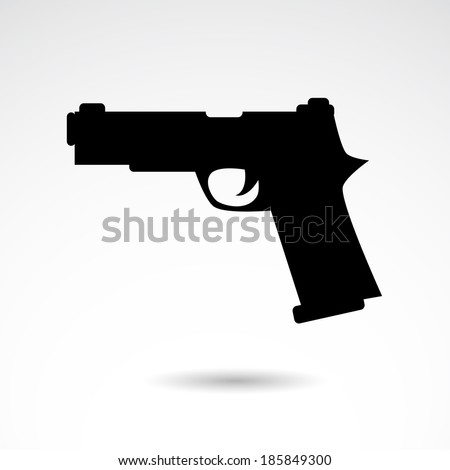 gun icon isolated on white