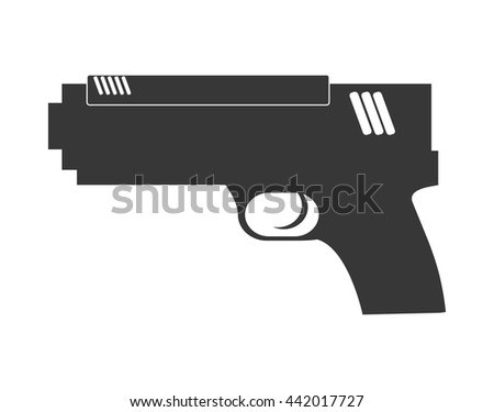 gun icon justice and law
