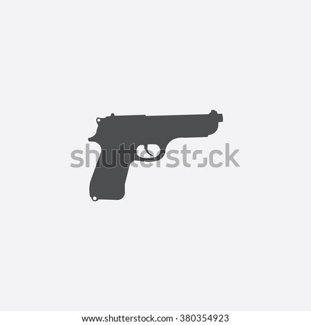 gun icon vector gun icon art