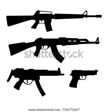 gun icon   weapon silhouette