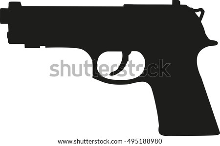stock-vector-gun-pistol-silhouette