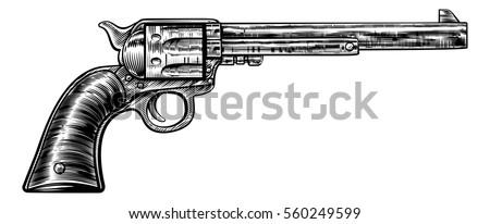 gun revolver handgun six