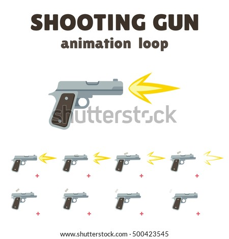 gun shoot animation  8 frame