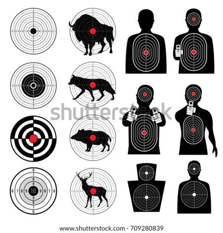 gun shooting targets and aiming