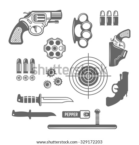 Gun And Knife Club Logo Design