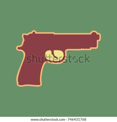 gun sign illustration vector