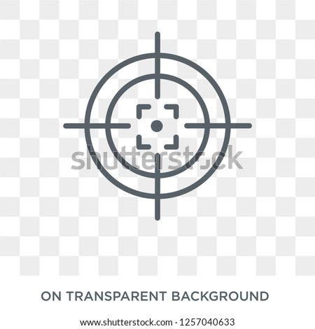 Gun target icon. Gun target design concept from Productivity collection. Simple element vector illustration on transparent background.