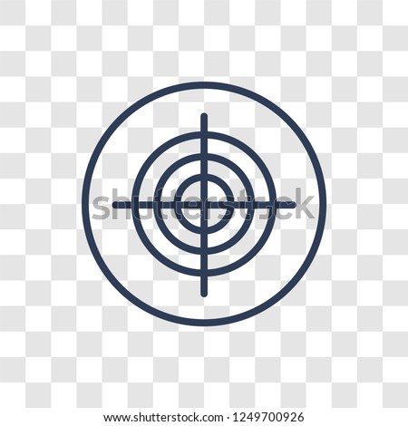 Stock Photo Gun target icon. Trendy linear Gun target logo concept on transparent background from Productivity collection