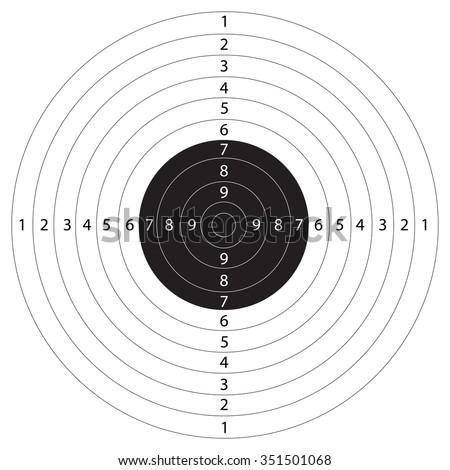 gun target shooting vector