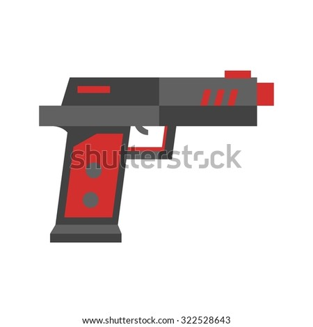 gun  toy  icon vector imagecan