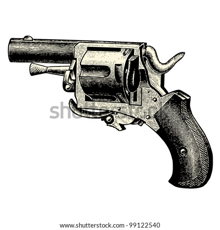Gun - vintage engraved illustration - Catalog of a French department store - Paris 1909
