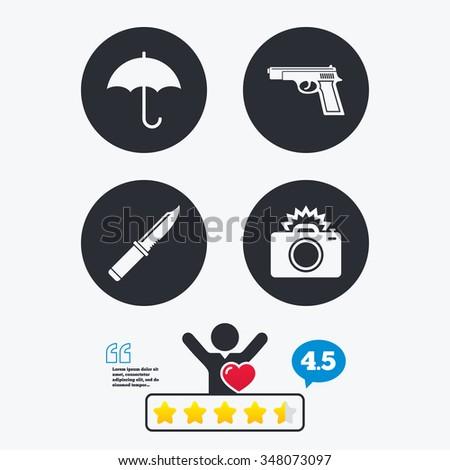 gun weapon iconknife  umbrella